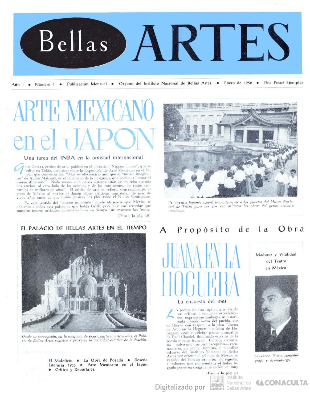 Bellas Artes, núm. 1, 1956 by Coordinación Nacional de Literatura ...