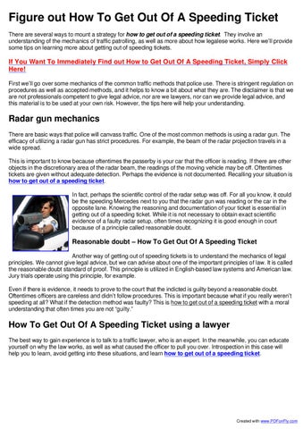 How To Beat A Speeding Ticket >> How To Get Out Of A Speeding Ticket By Eic Llc Issuu