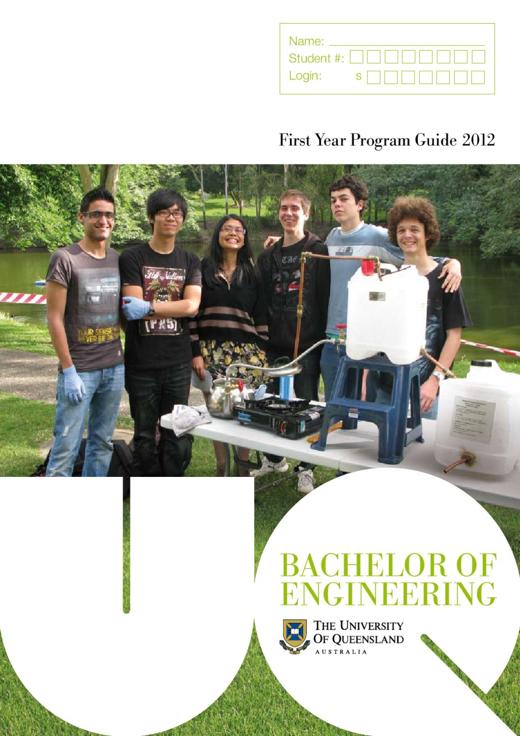 Uq Engineering 1st Year Program Guide By Uq Engineering  Architecture And Information Technology