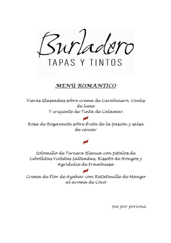 menu rom ntico gran meli col n by melia hotels