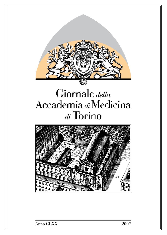 Giornale Dell Accademia Di Medicina 2007 By Accademia Di Medicina