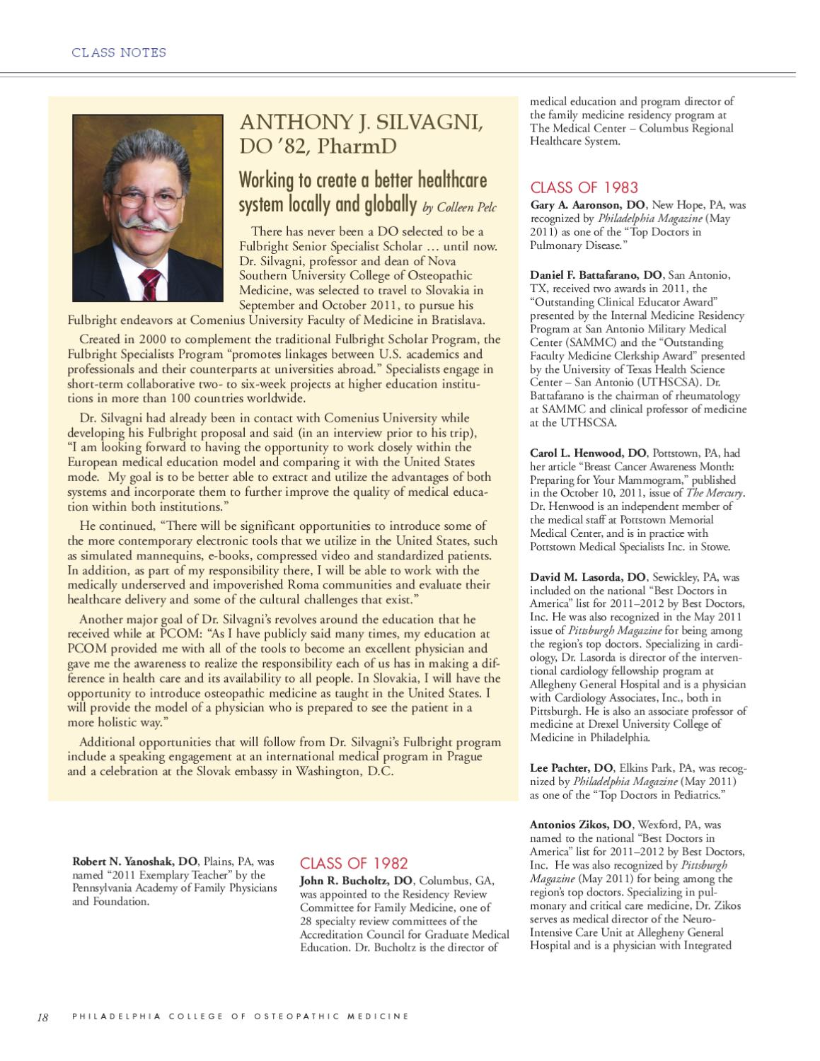 2011 Digest No  3 by Philadelphia College of Osteopathic