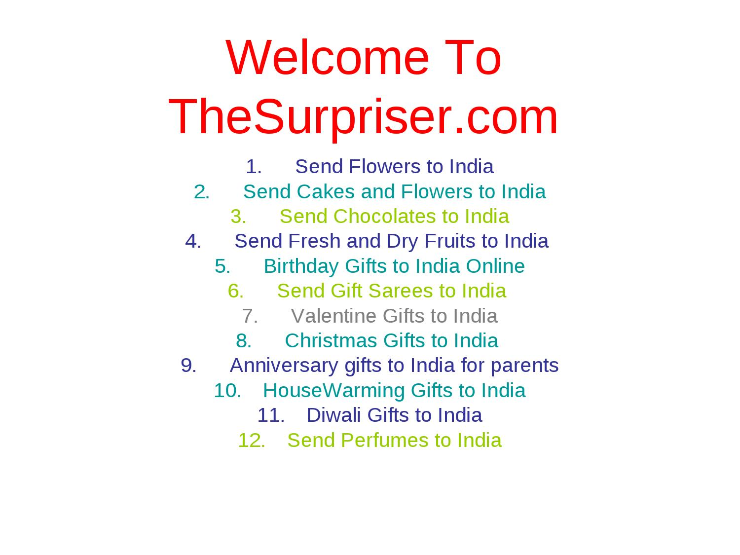 how to send gift from usa to india