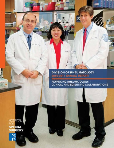 Division of Rheumatology 2010-2011 Annual Report by Hospital for