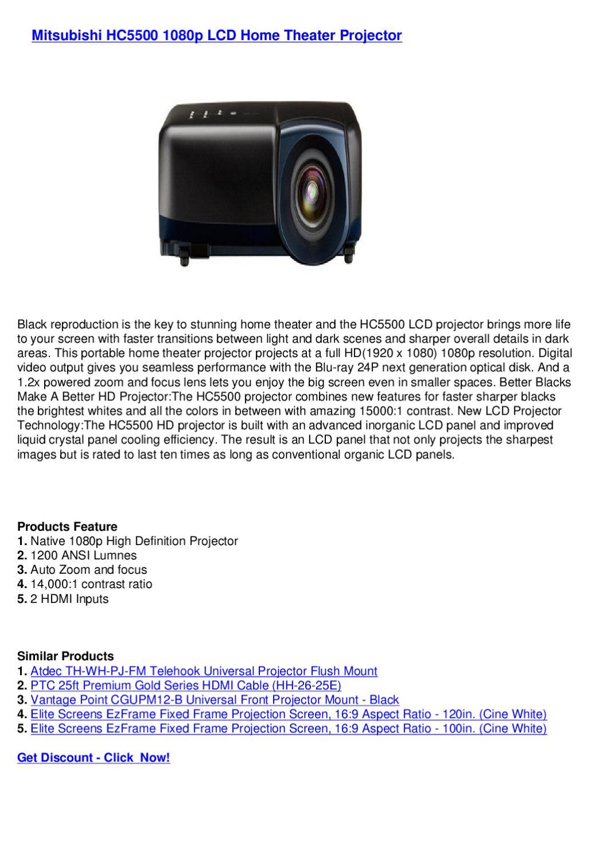 Black Vantage Point CGUPM12-B Universal Front Projector Mount