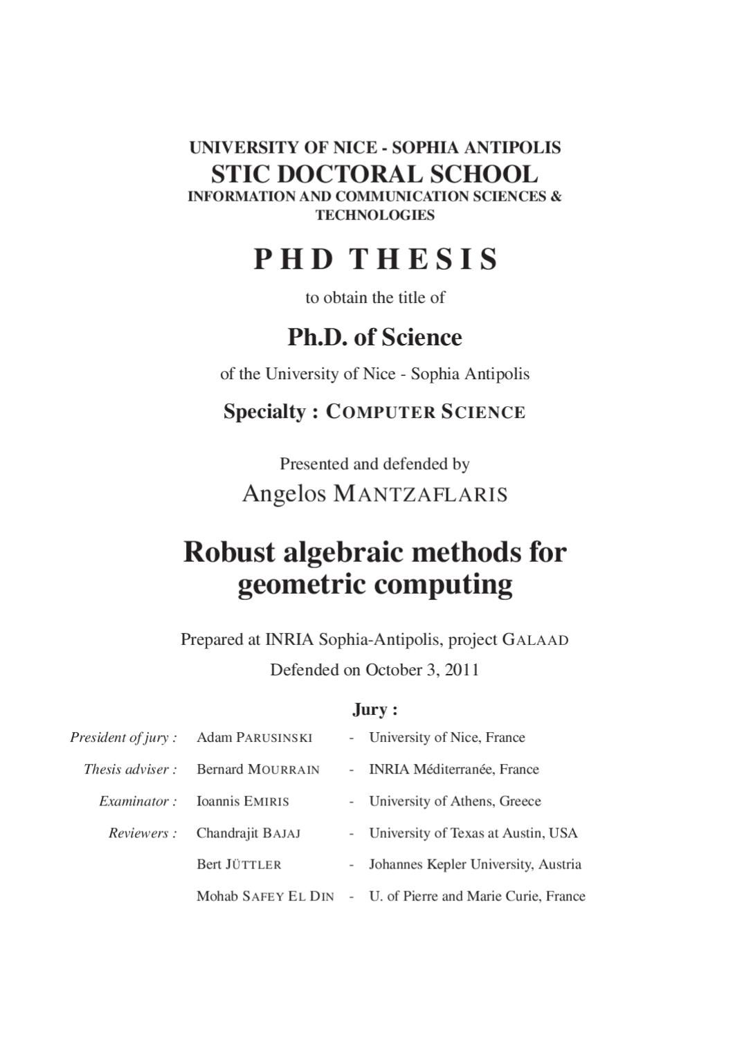 Phd thesis grid computing