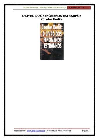 38dd292985 Livro dos Fenômenos Estranhos - Charles Berlitz by Marcos Ancillotti ...