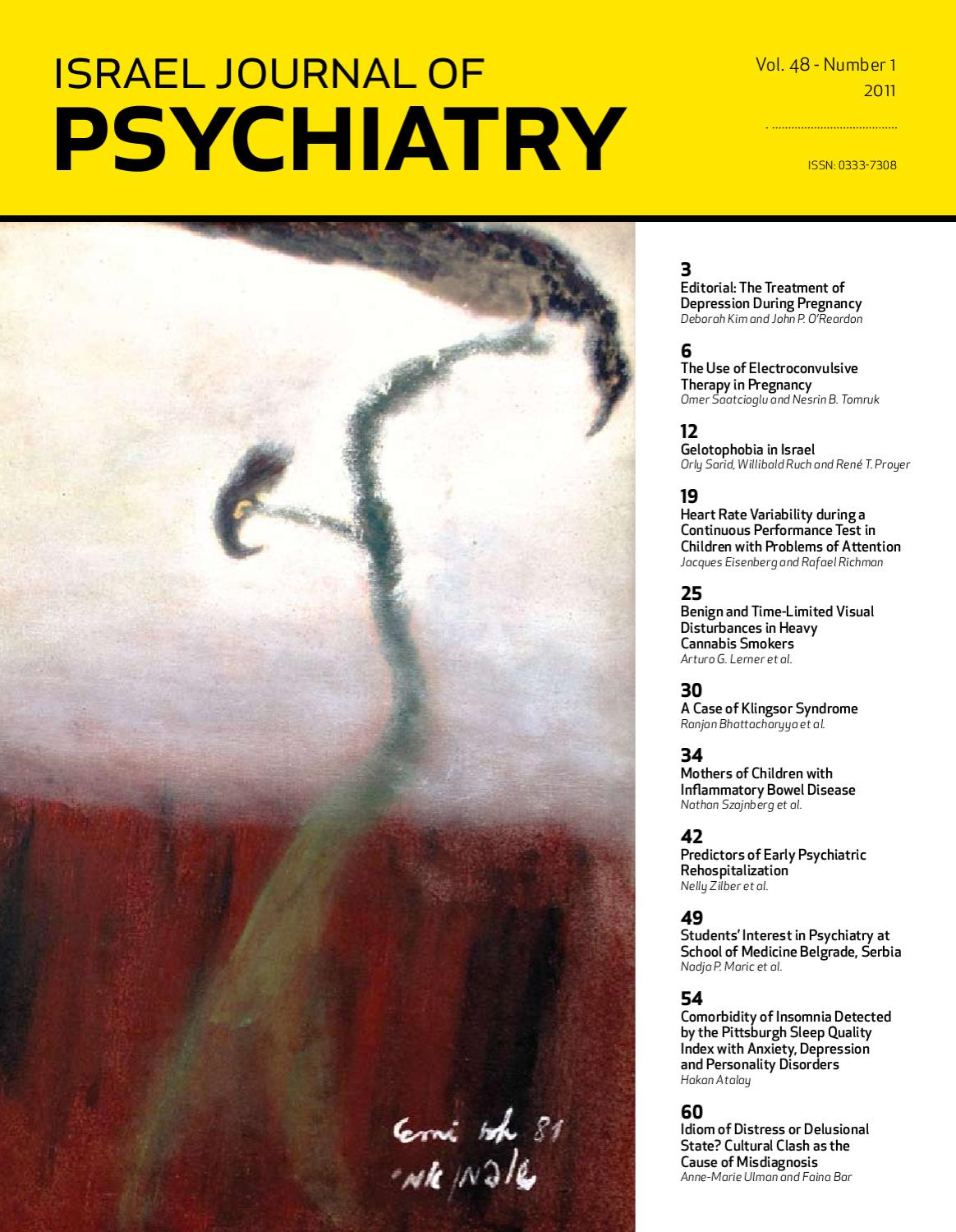 201101_israel journal of psychiatry and related sciences by MEDIC - issuu