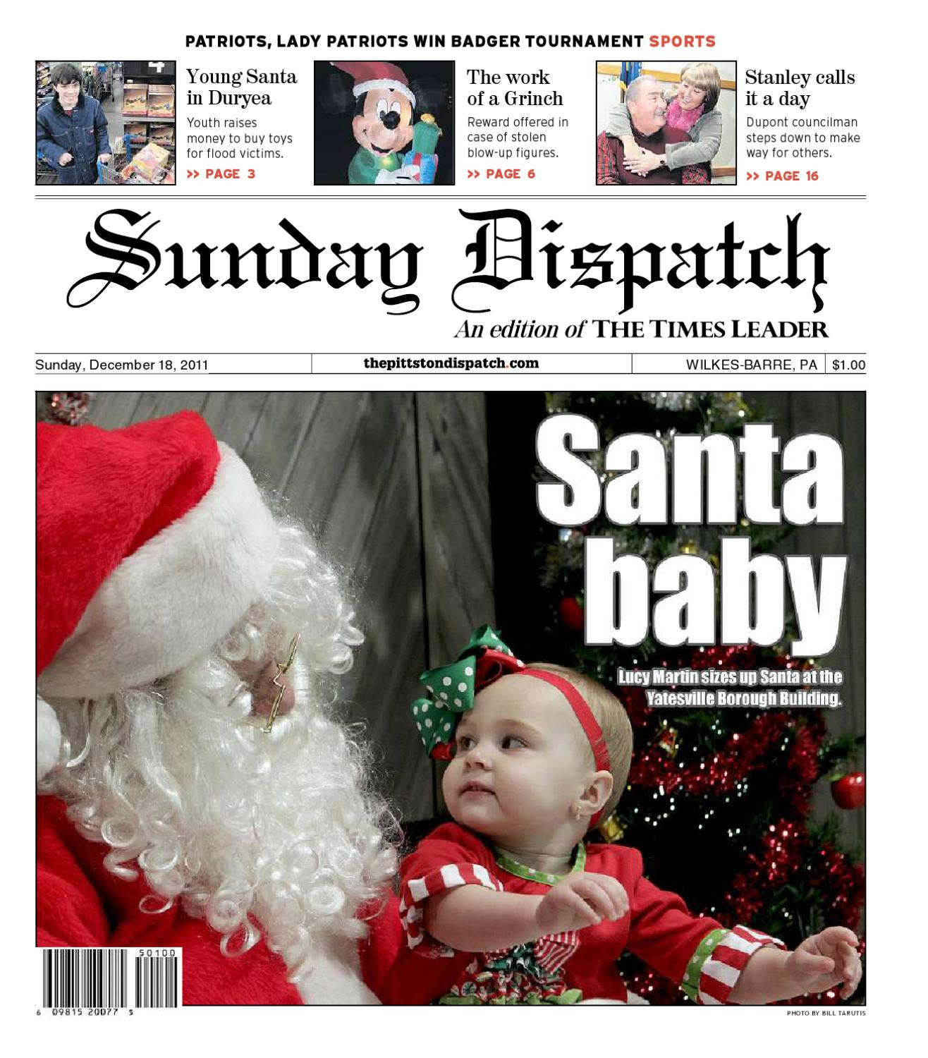 The Pittston Dispatch 12 18 2011 by The Wilkes Barre Publishing