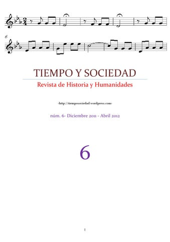 Tiempo y sociedad 6 by tiempo y sociedad revista de historia y page 1 fandeluxe Image collections