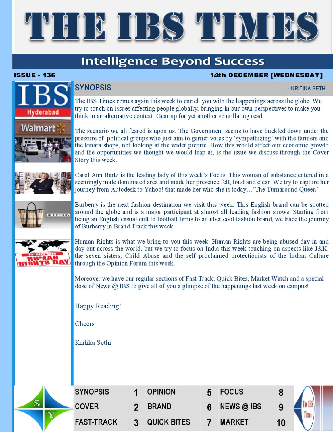 The IBS TIMES 136th Issue