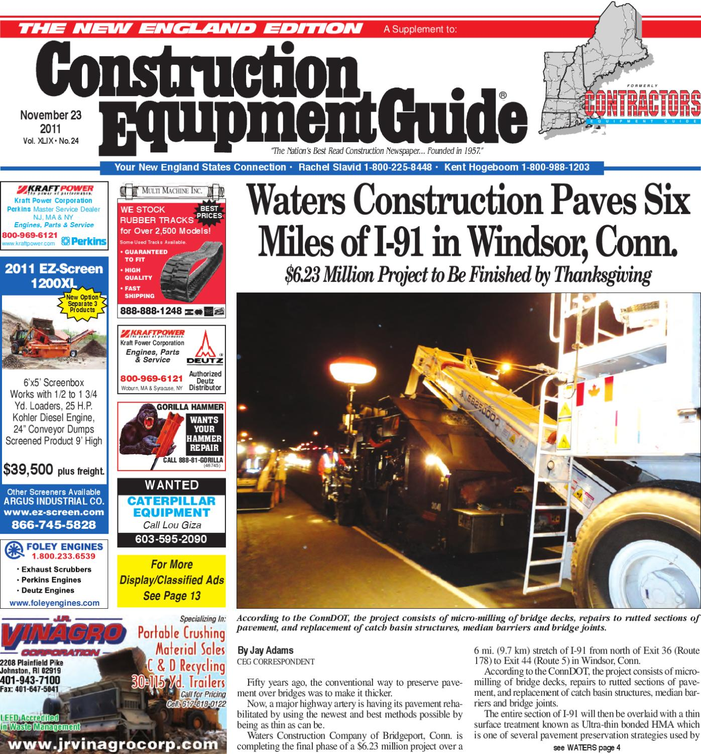 New England #24 2011 by Construction Equipment Guide - issuu