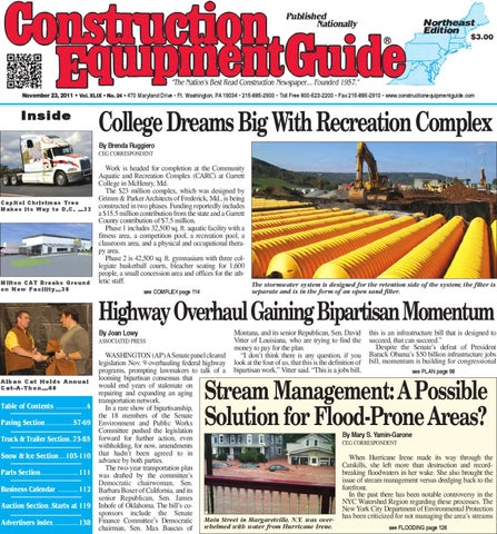 e01d5430bdf Northeast  24 2011 by Construction Equipment Guide - issuu