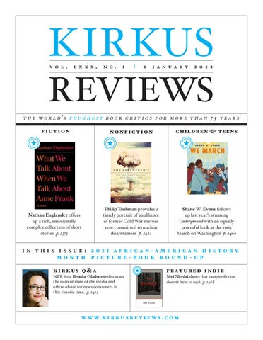 January 1 2011 Vol Lxxx No 1 By Kirkus Reviews Issuu