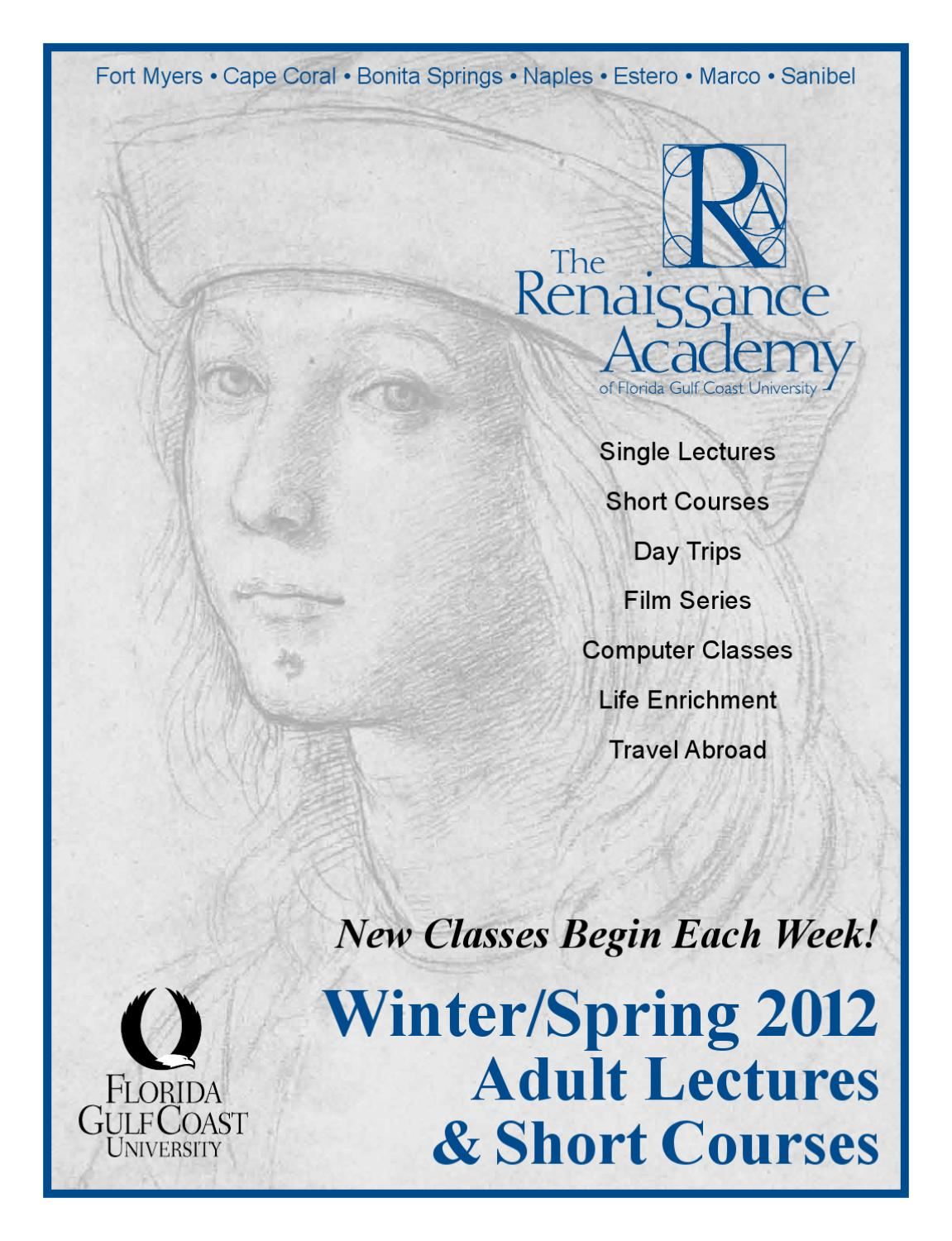 FGCU's Renaissance Academy 2012 Winter Spring Course Catalog by ...