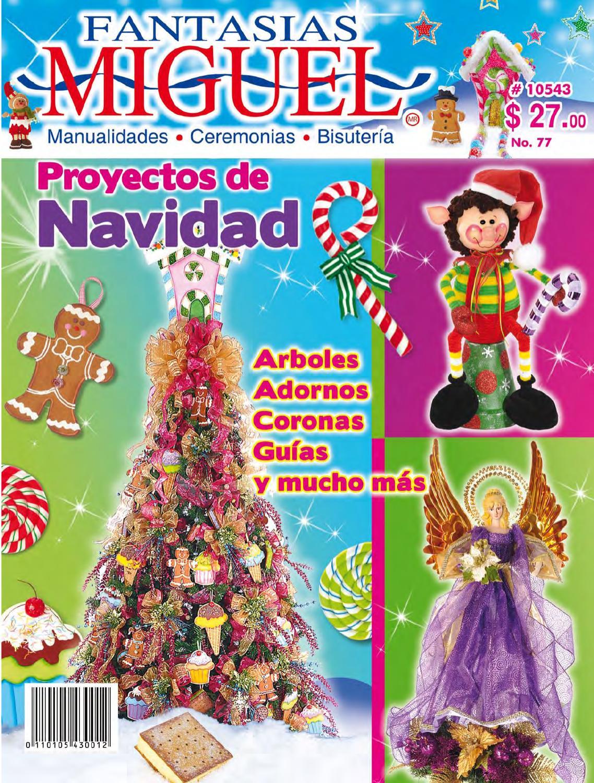 Revista 77 by fantasias miguel sa issuu - Arboles de navidad manualidades navidenas ...