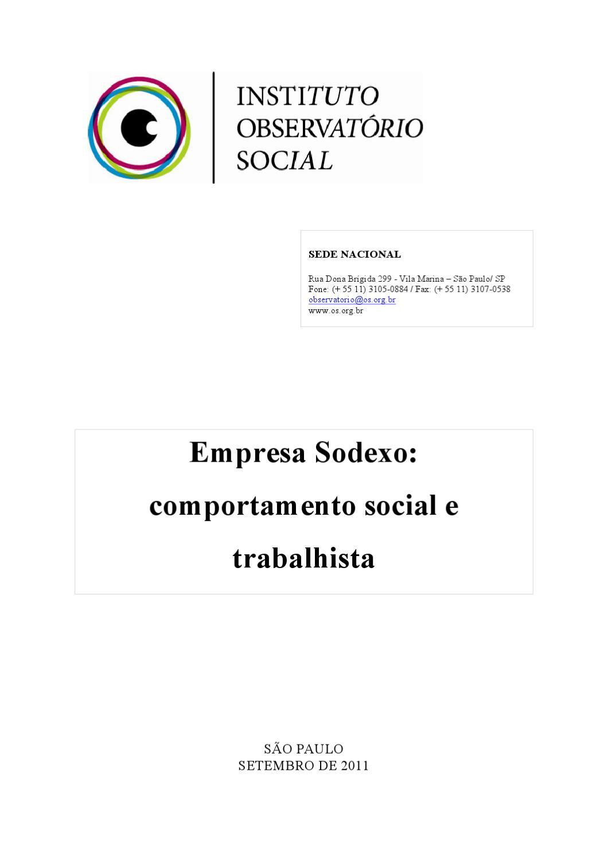 Relat Rio Geral Sodexo Setembro 2011 By Instituto Observat Rio