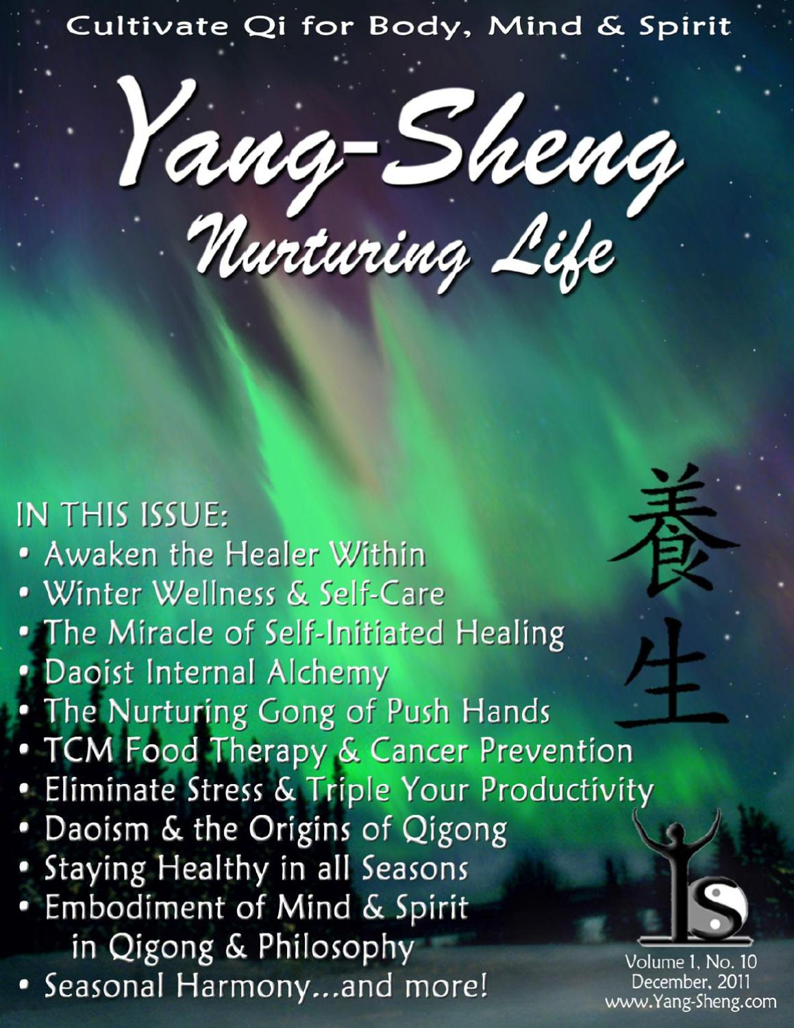 Yang Sheng Nurturing Life December 2011 By Dao Of Well Being