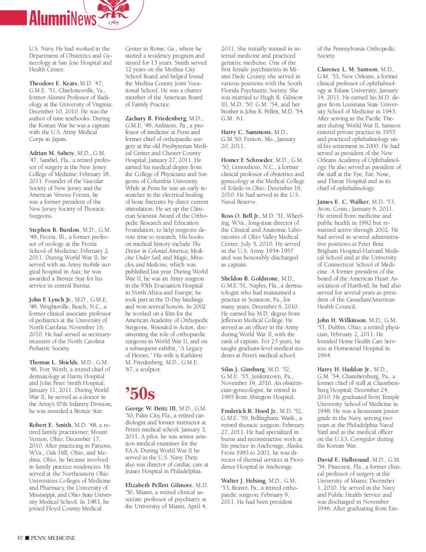 Penn Medicine Magazine -- Fall 2011 by Penn Medicine - issuu