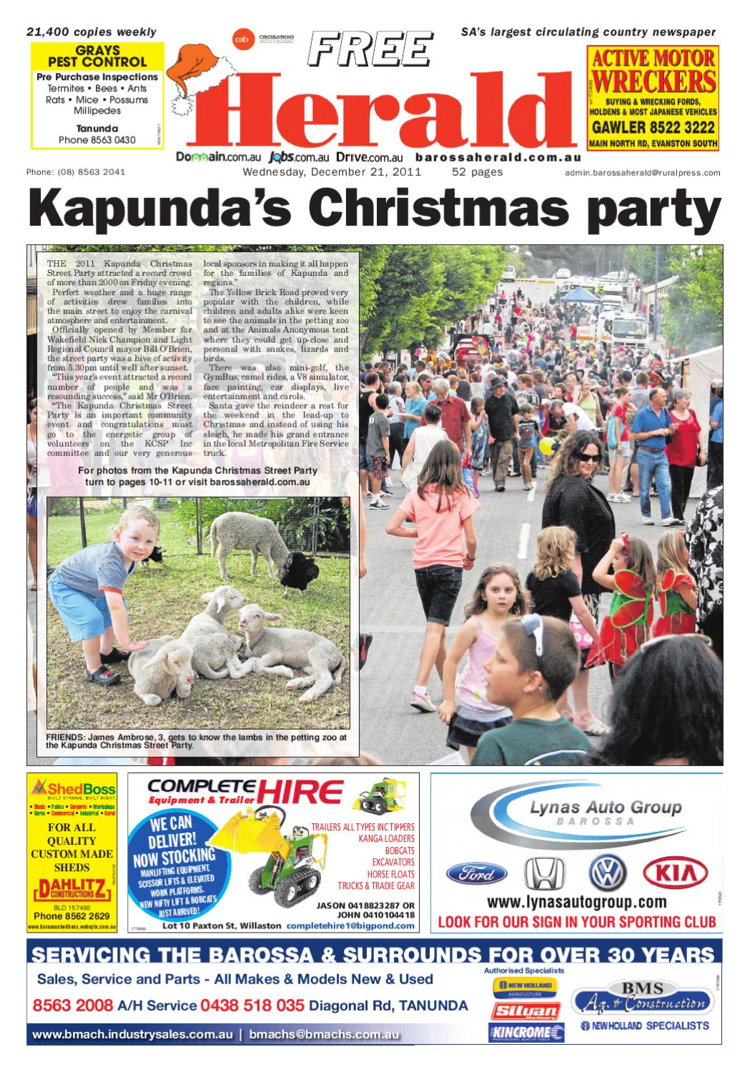 December 21st Edition by Barossa Herald - issuu 768915a98
