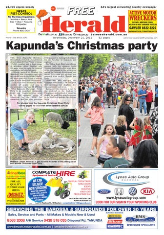 December 21st edition by barossa herald issuu page 1 malvernweather Image collections