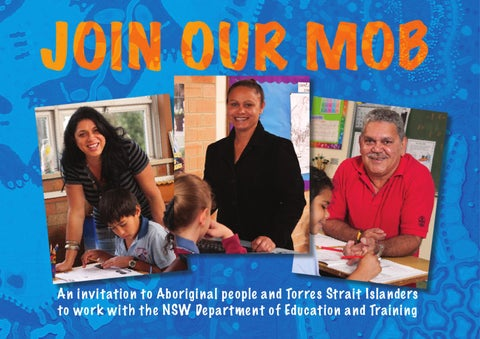 JOIN OUR MOB by teach NSW NSW Department of Education and