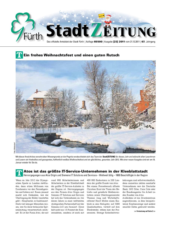 StadtZeitung, Nr. 23, vom 21. Dezember 2011 by Christian Scharvogel ...