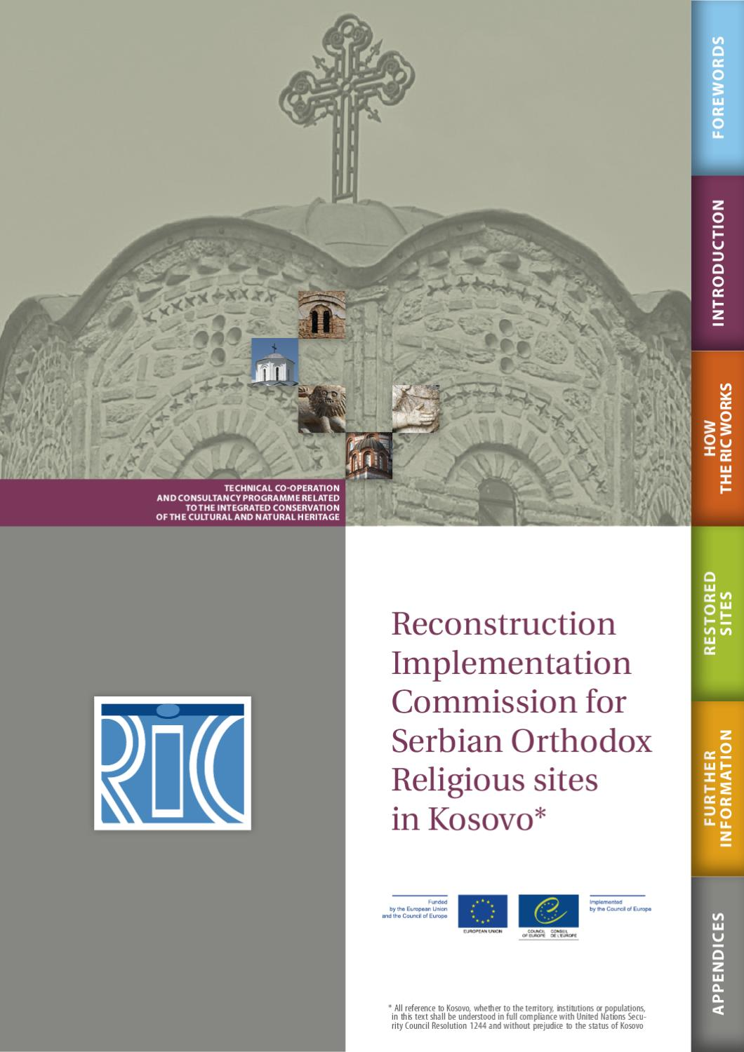 Reconstruction Implementation Commission For Serbian Orthodox