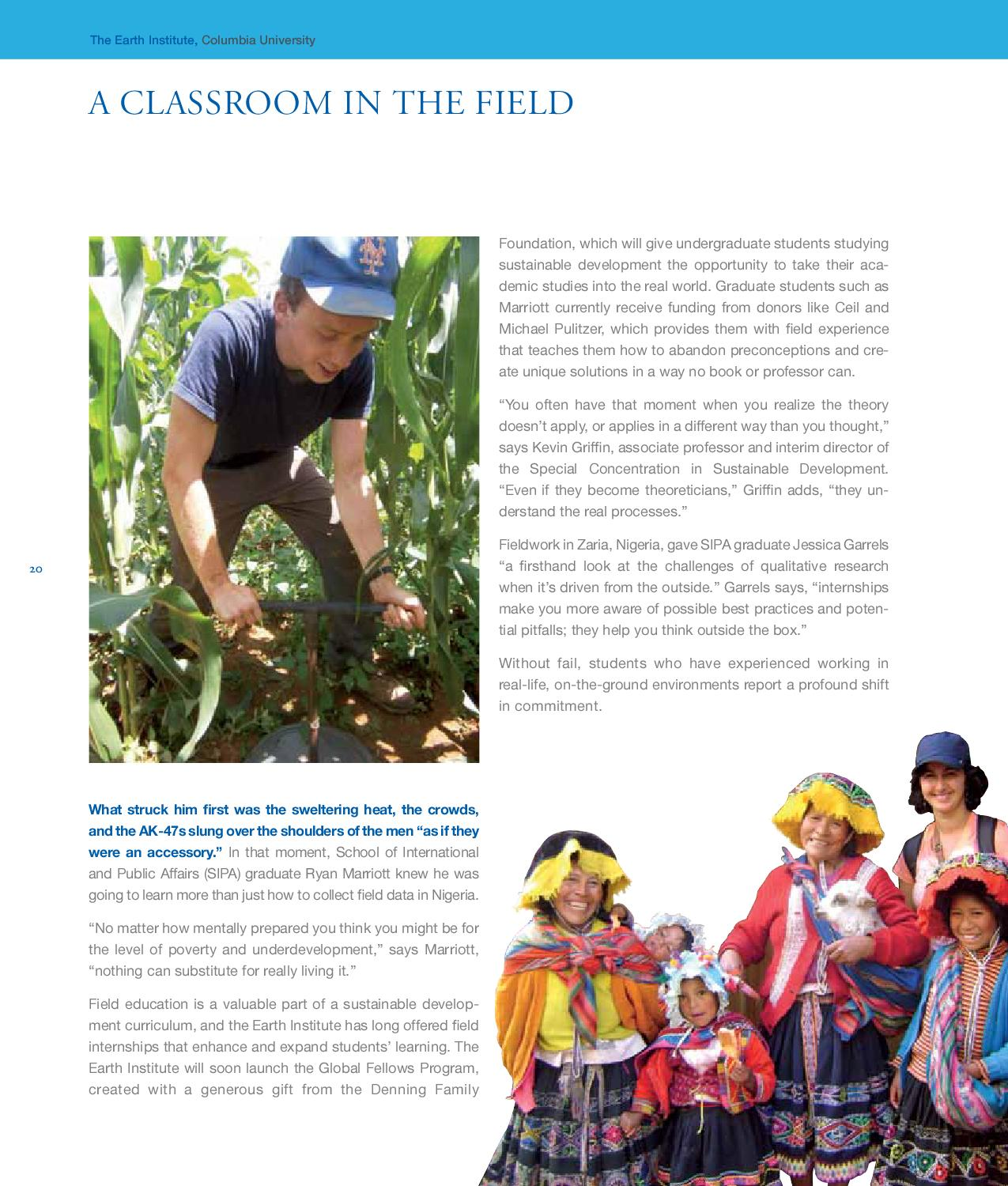 Earth Institute Donor Report by Earth Institute, Columbia