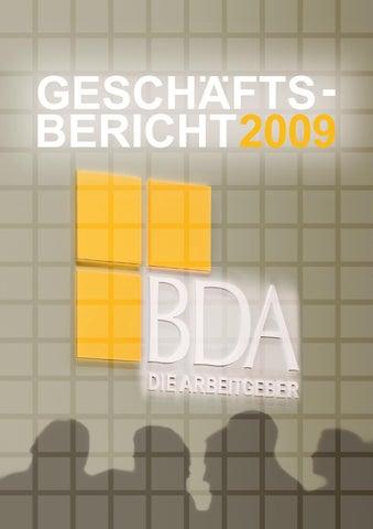 Geschäftsbericht 2009 By Bda Issuu