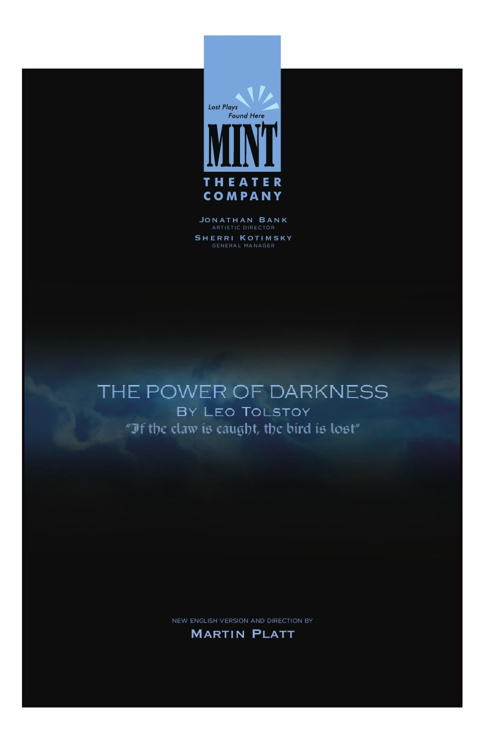 Power of Darkness Program by Mint Theater Company - issuu