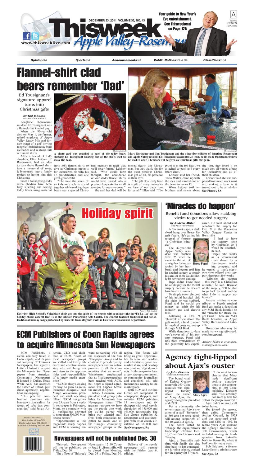 Apple Valley/Rosemount: Thisweek Newspapers by Sun Thisweek
