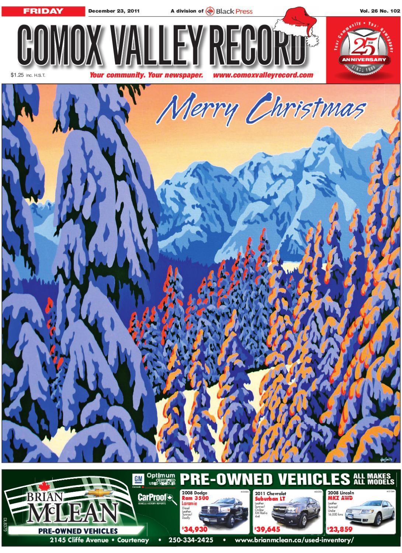 Fri December 23 2011 Comox Valley Record By Comox Valley Record