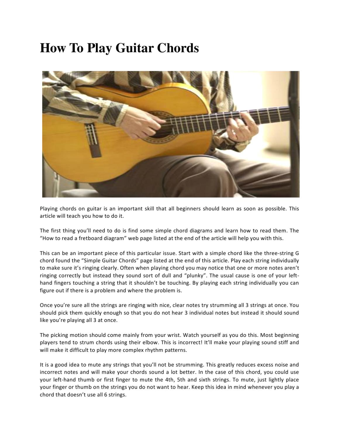 Tips How To Play Guitar Chords By Gilman William Issuu