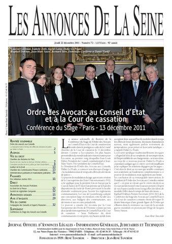Edition Du Jeudi 22 Décembre 2011 By Annonces De La Seine Issuu
