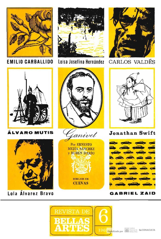Revista De Bellas Artes N M 6 Noviembre Diciembre De 1965 By  # Cota Muebles Teziutlan Puebla