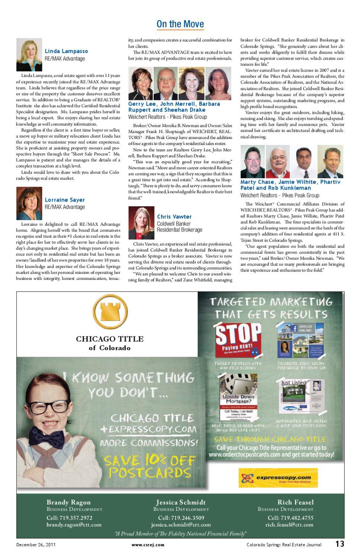 Colorado Springs Real Estate Journal by Colorado Springs