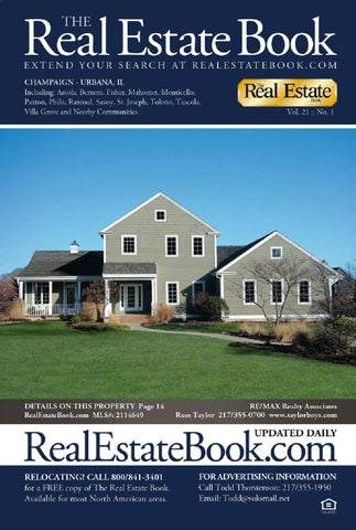 The Real Estate Book Of Champaign Urbana Volume 21 Issue 1