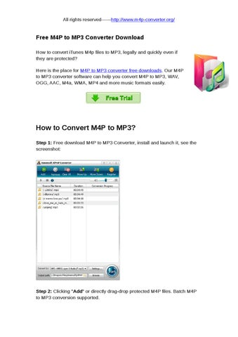 m4p to mp3 converter free downloads by snow abcd - issuu