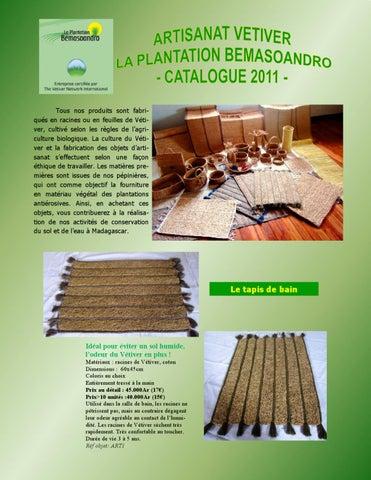 Catalogue Artisanat Vetiver 2011 By Fano Hery Lalaina Issuu