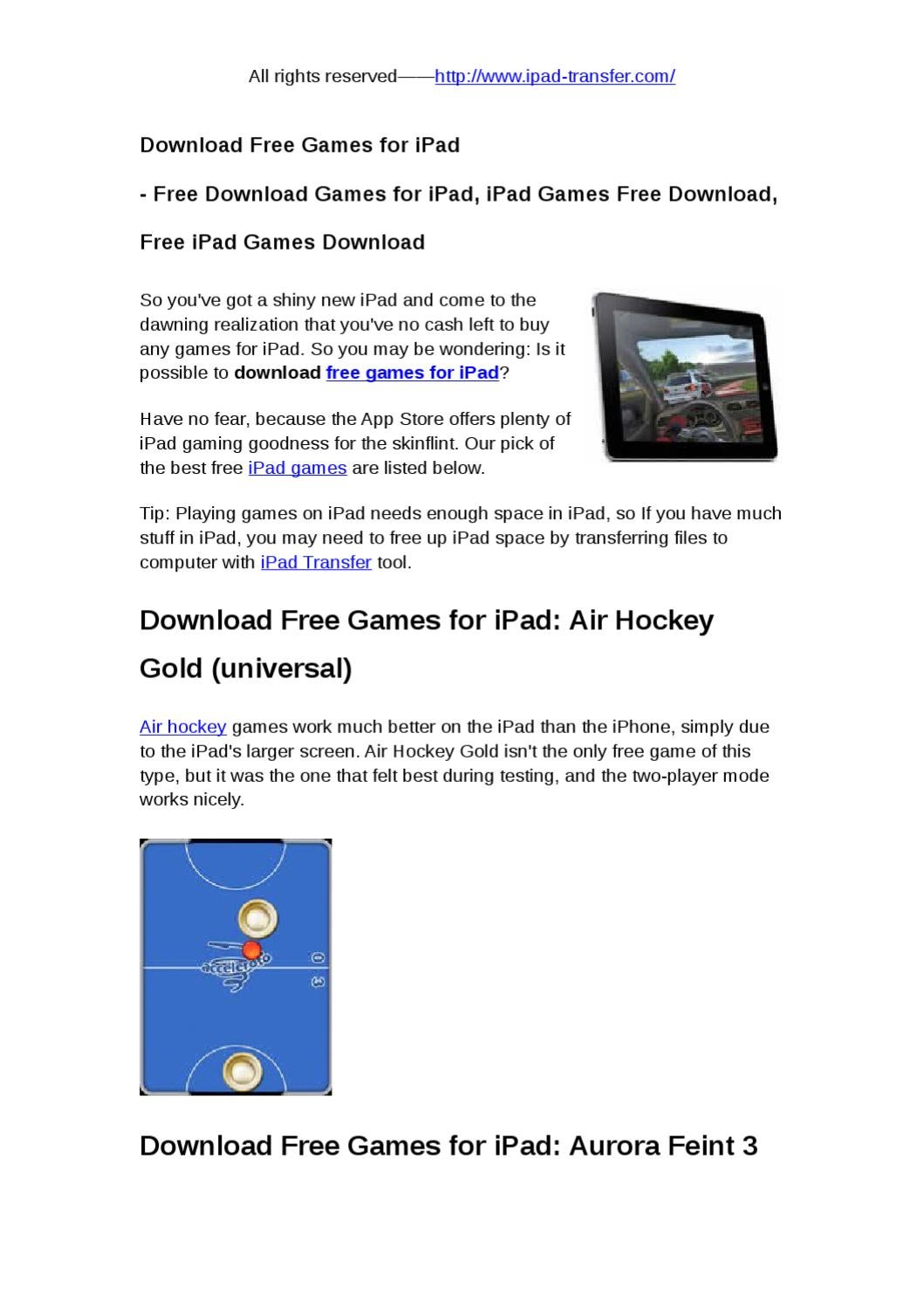 free games for ipad by snow abcd - issuu