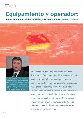 Page 30 of EQUIPAMIENTO Y OPERADOR: FACTORES FUNDAMENTALES EN EL DIAGNÓSTICO DE LA ENFERMEDAD TIROIDEA