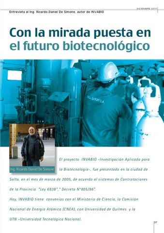 Page 37 of CON LA MIRADA PUESTA EN EL FUTURO BIOTECNOLÓGICO