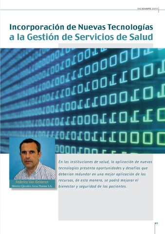Page 41 of INCORPORACIÓN DE NUEVAS TECNOLOGÍAS A LA GESTIÓN DE SERVICIOS DE SALUD