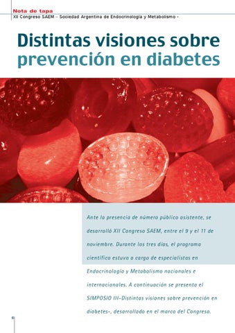 Page 6 of DISTINTAS VISIONES SOBRE PREVENCIÓN EN DIABETES