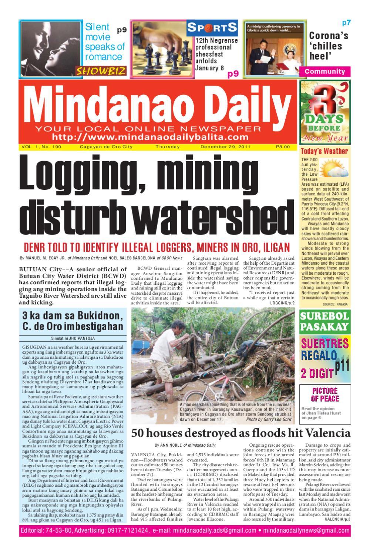 MINDANAO DAILY DECEMBER 29,2011 by Mindanao Daliy - issuu
