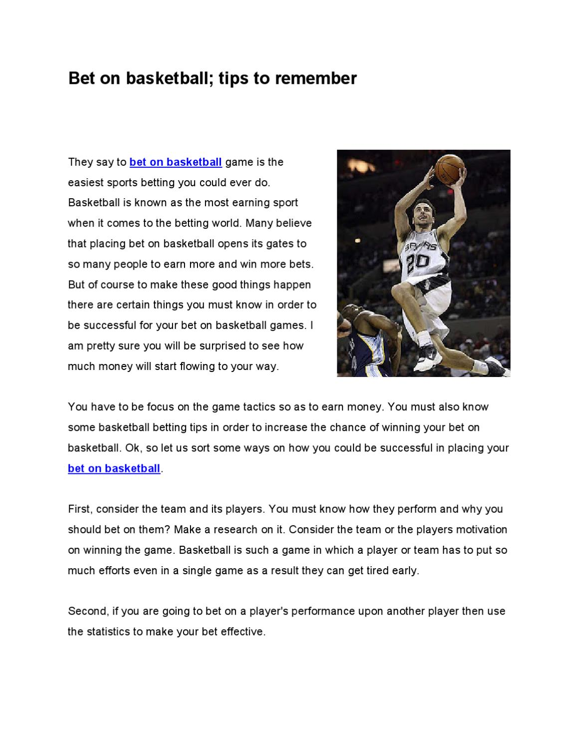 To bet on basketball games e t binary options limited express