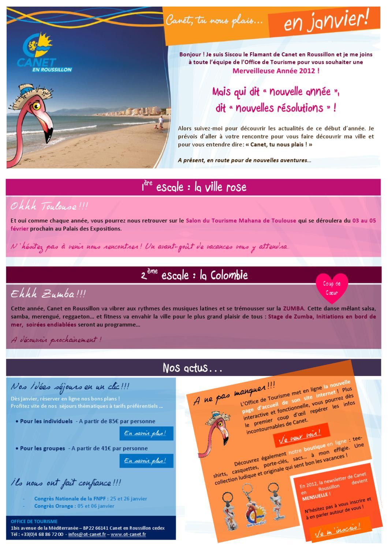 Canet en janvier by canet roussillon issuu - Office de tourisme canet en roussillon ...