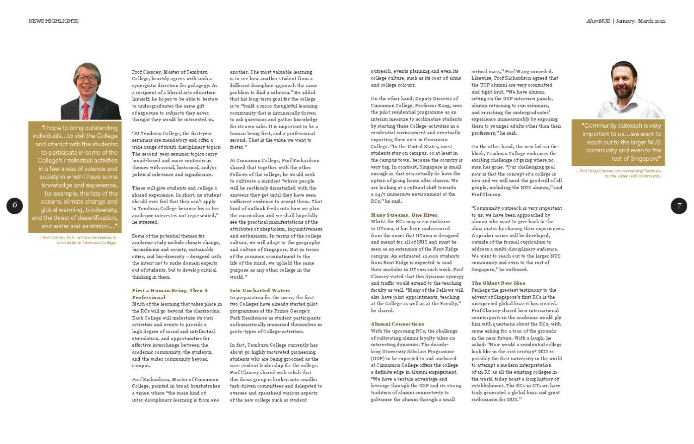 NUS Alumni Office - AlumNUS Magazine Jan by NUS Alumni