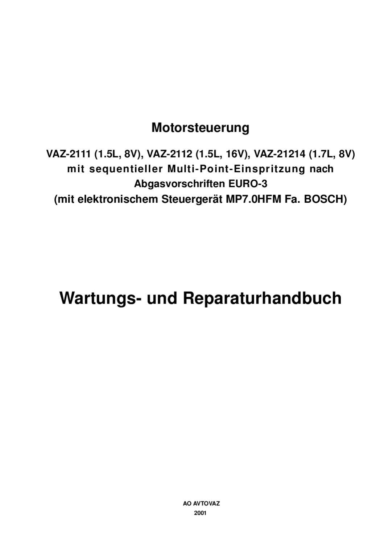 Lada Vaz Handbuch Motorsteuerung Bosch MP7.0 by Seppo Jakopää - issuu